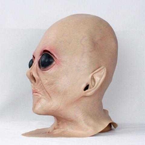 Alien head mask silicone mask full face mask role play haunted house secret room horror spoof props scare
