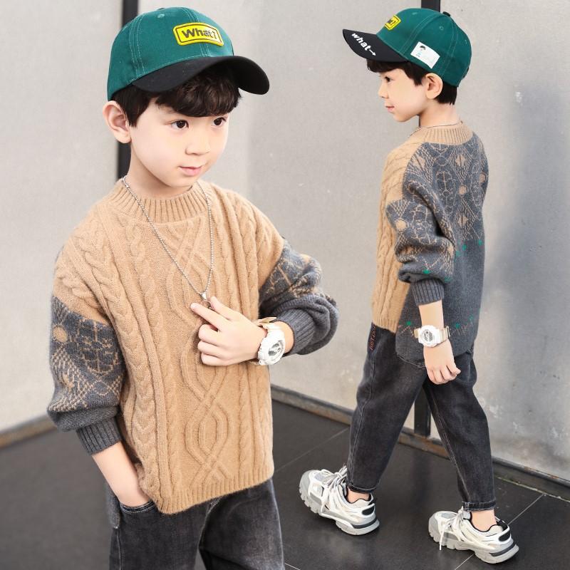 度度猫男童2020针织童装新款毛衣