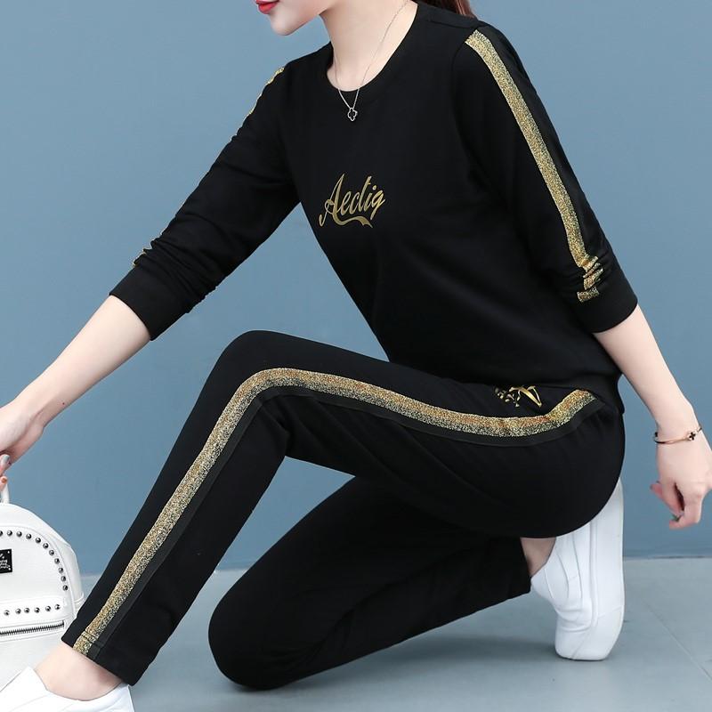 运动套装女装2020秋季新款卫衣休闲服韩版时尚春秋宽松两件套潮流