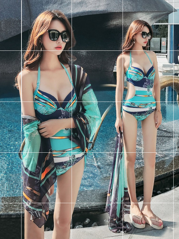 Bikini Swimsuit Bikini two piece suit womens 2019 new swimsuit looks thin, big chest and small chest gathered together