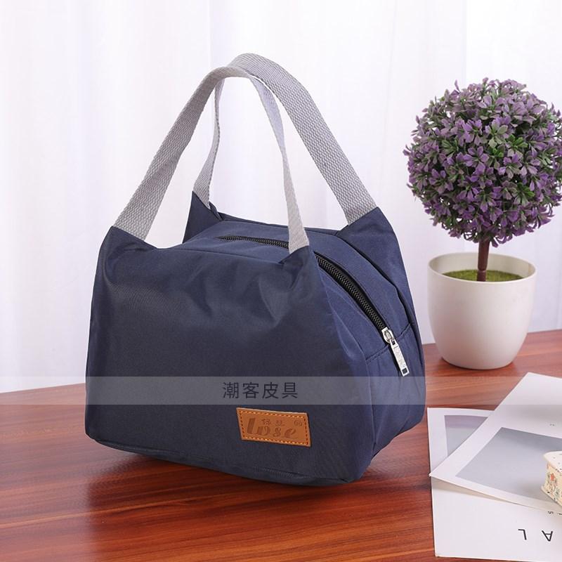 布包饭盒简约包手提布防水拎手袋午餐袋日式男女牛津布包便当袋小