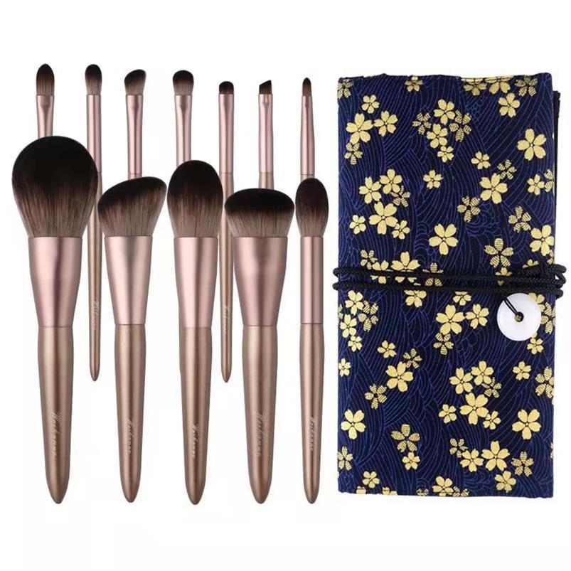 Eye shadow brush set, eye makeup brush, eyebrow makeup brush, eye shadow brush, makeup blush brush, portable.