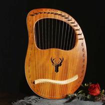 许篌琴乐器古典竖琴大欧式儿童凤头篌迷你专业演奏级自