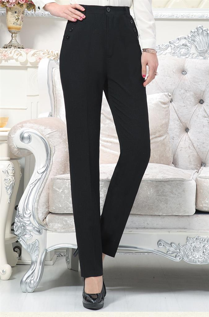 Spring old womens trousers 50-year-old 60 middle-aged and old womens C scholars cotton and linen Nvku trousers worn by Grandmas wife 7