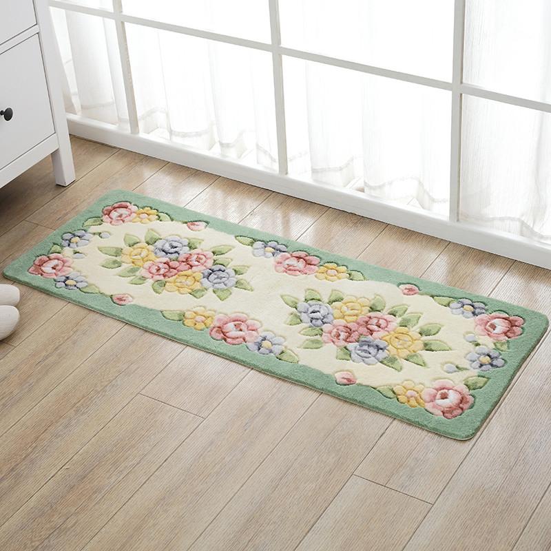 美式田园厨房地垫长条吸水吸油防滑脚垫垫子床边垫卫生间门口地垫