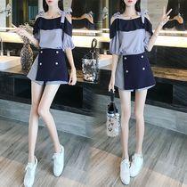 夏装2020新款套装洋气小个子显高裙子两件套很仙的连衣裙女短裤年