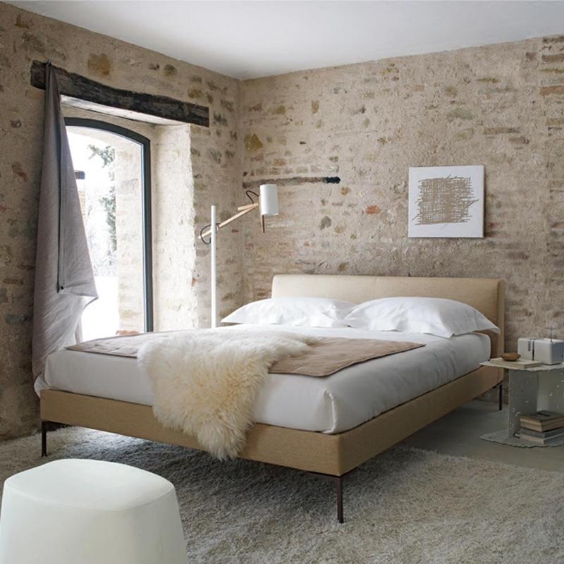 布艺床可拆洗主卧现代简约布床北欧小户型榻榻米双人床软床床类