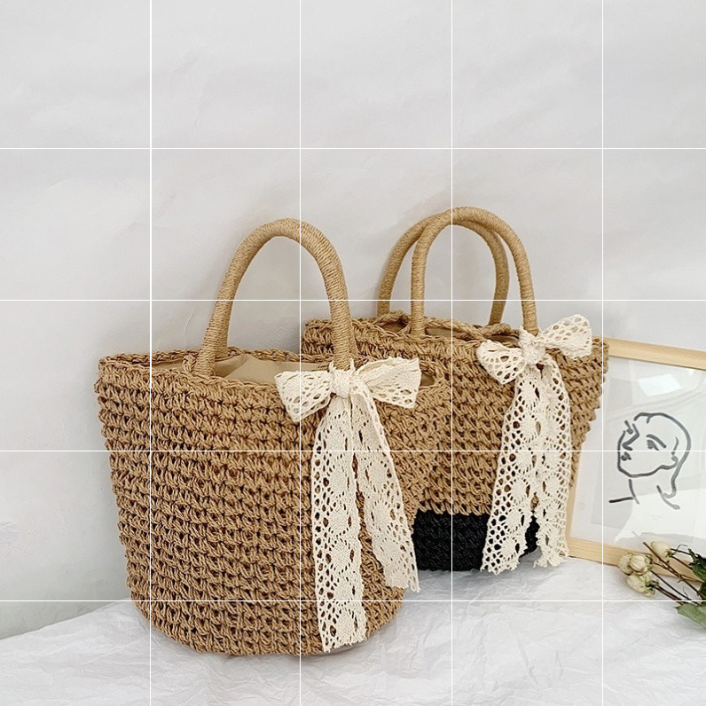 Spring bag summer beach elegant photo bag straw bag straw bag cross national wind rattan bag
