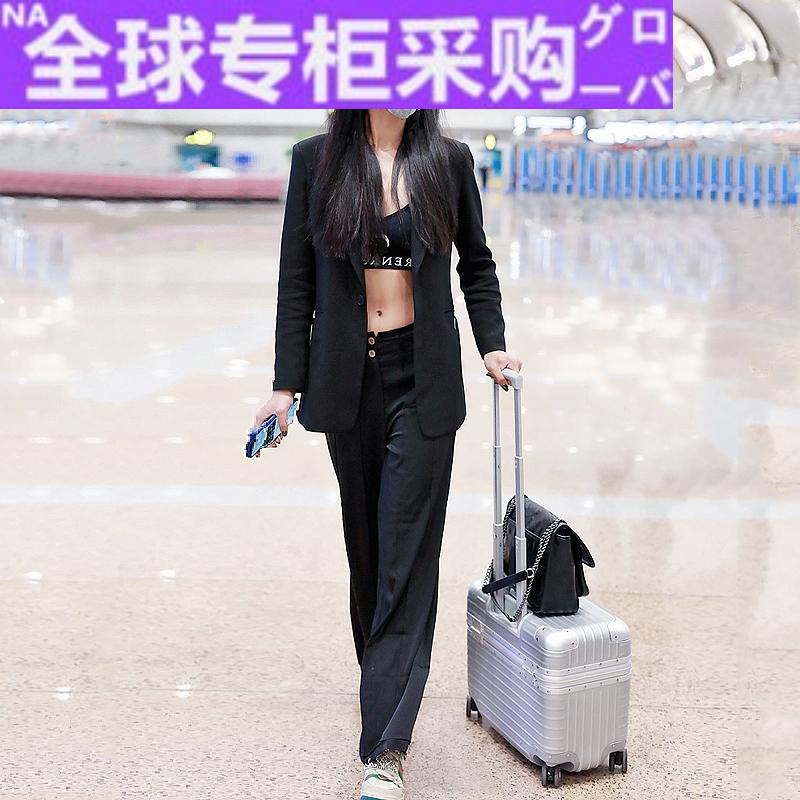 Japan tg18 inch top cover aluminum frame trolley case universal wheel 17 ultra light small suitcase womens photography suitcase