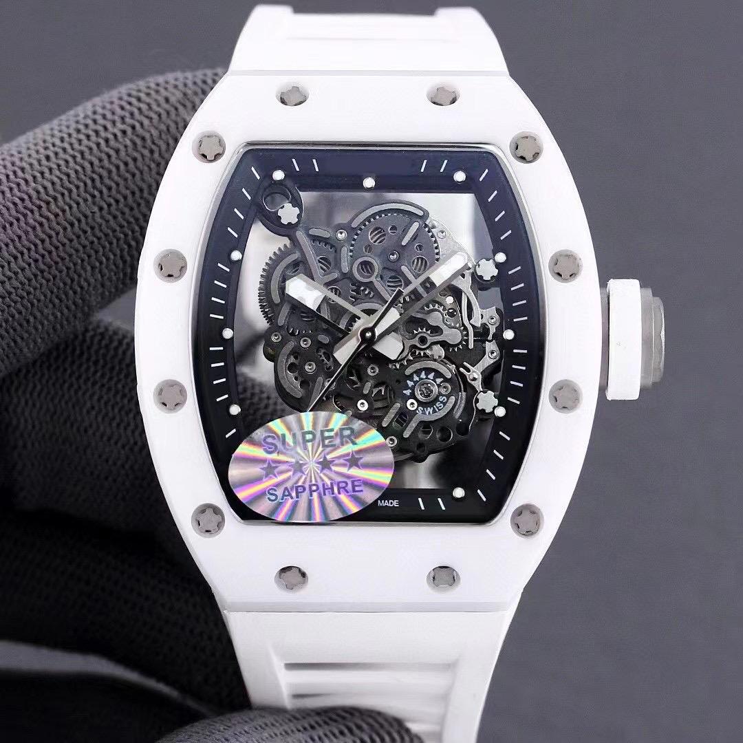 理查德商务休闲RM055全自动机械米勒手表全陶瓷表壳胶带男士腕表