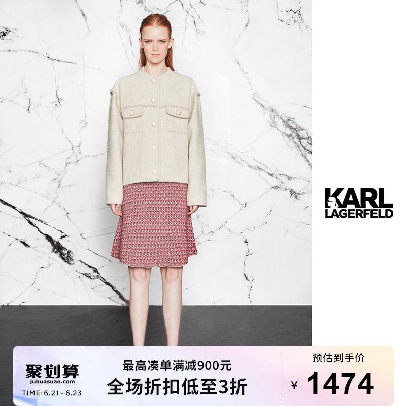 Karl Lagerfeld卡尔老佛爷20年冬新女士粗花呢上衣E06L1402
