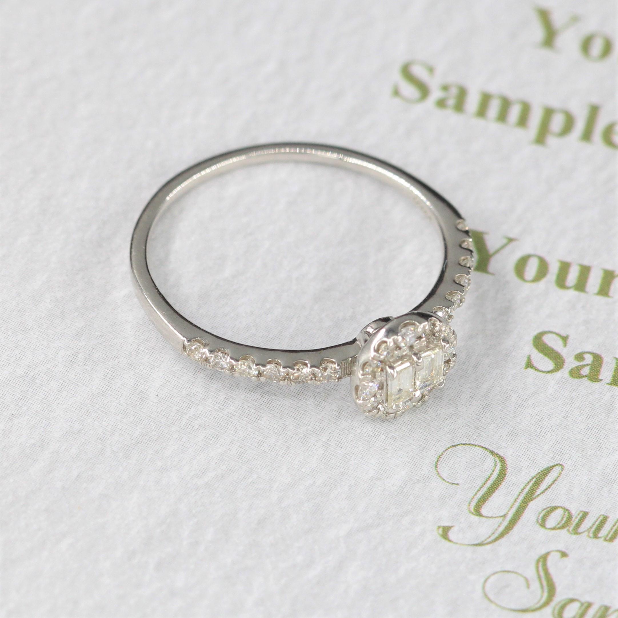 また、18 kの金のロングダイヤモンドに指輪を嵌めた新型アクセサリーをプレゼントします。
