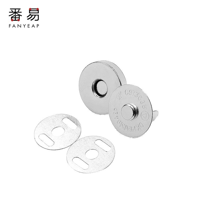 Invisible wallet, metal bag, hidden button, no seam sucker type snap button, magnetic button, button accessories, magnet button
