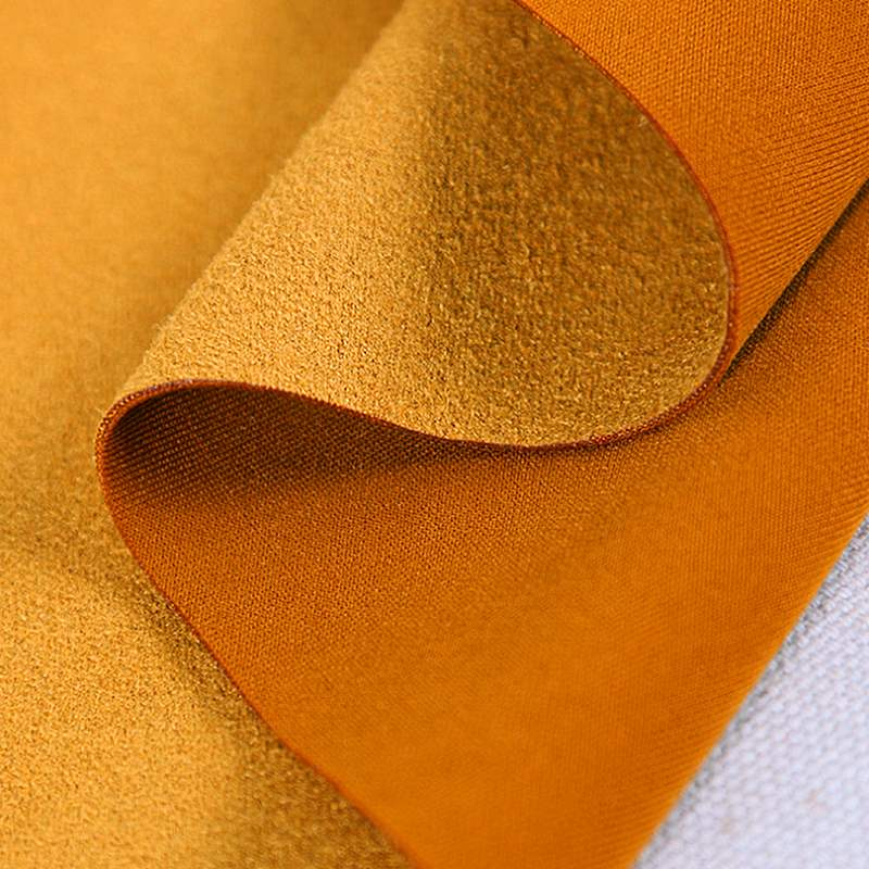 High end suede air layer fabric chicken suede suede suede frosted soft, smooth and delicate windbreaker coat fabric