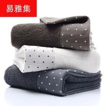 棉毛巾圆点丝带股纱洗脸巾深色素色男女洁面巾logo定制