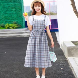 閨蜜套裝裙子仙女超仙森系夏裝00後高中學生長裙姐妹裝連衣裙可愛