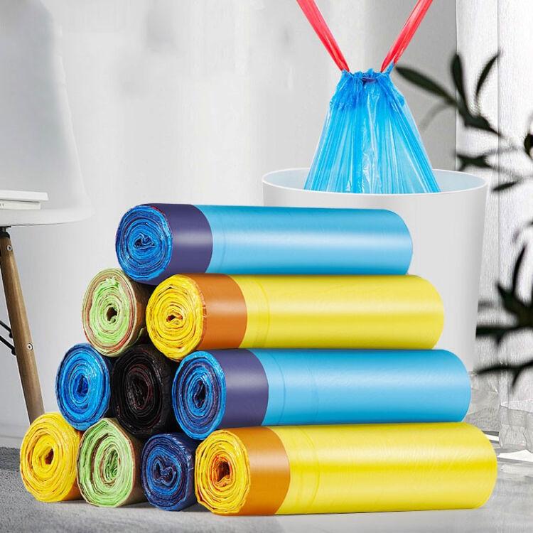 抽绳垃圾袋家用手提式加厚特大号黑色厨房宿舍学生拉圾塑料袋