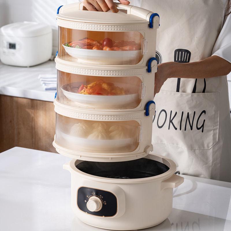 餐桌罩剩菜食物罩家用盖菜神器多层加热防苍蝇保温保鲜防尘菜罩子