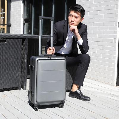 Trolley case case universal wheel computer trunk front cover opening 20 inch mens double password business luggage bag