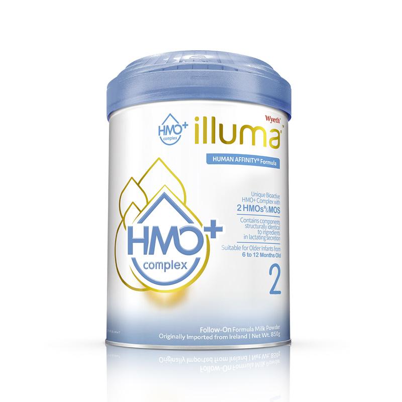 惠氏启赋hmo+2段港版蓝钻升级婴幼儿牛奶粉850克罐装官方正品进口