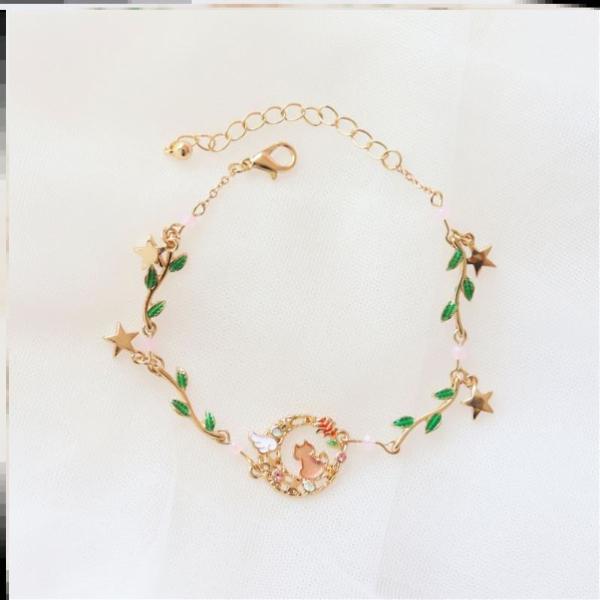 可爱萝莉星星珍珠手链装饰好看搭配风格童话卡通流行女设计个性款