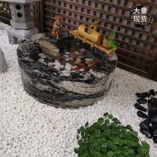 石雕雪浪石頭魚缸落地流水景觀枯山觀賞石青石大堂大小型大小家用