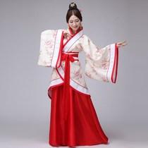汉服女超仙古装大袖衫18-20-25-40岁成人礼红色大码胖mm200襦裙