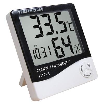 室内温度湿度计 家用壁挂式电子表时钟客厅水银可爱2代房间时计机