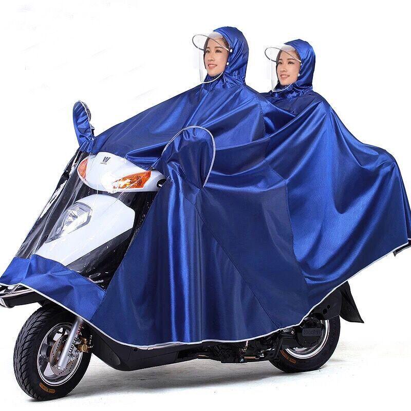雨衣电动车雨披摩托车加大加厚单人双人成人自行车男女士雨衣套装