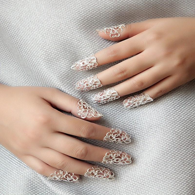Thumb armor cover false nail ring female nail Ring Bridal Accessories Palace