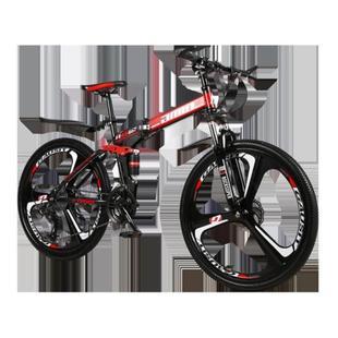 高中生学生车大人单车男生日常 一体成年折叠车山地越野自行车