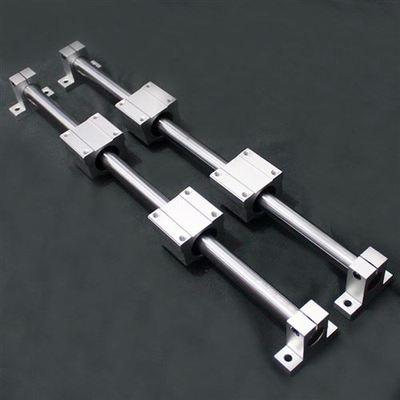 光轴直线导轨木工直线滑轨滑台圆柱导轨滑块光杆滑杆滑座立式全套
