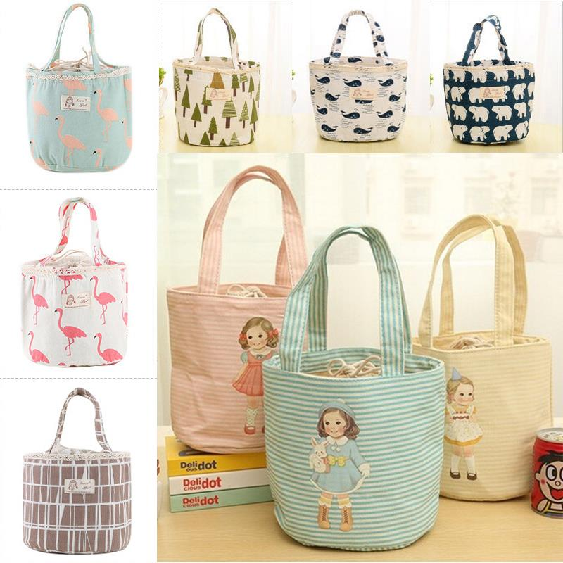 Lunch box student thermal insulation round Bento carrying rice bag bag belt box lunch portable large handbag