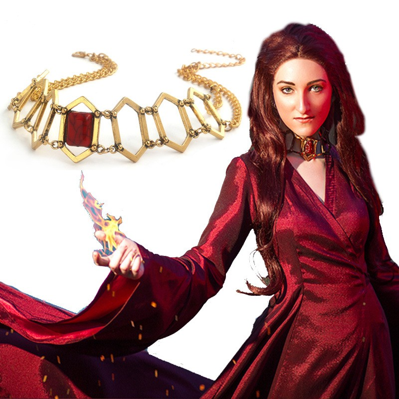 Chinese game peripheral power game robe female Ruby Necklace melisandro the same magic necklace