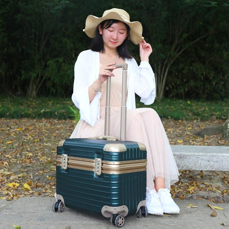 Japanese GK small trolley case female 18 inch photography case climbing tool male flap trunk universal wheel Captain