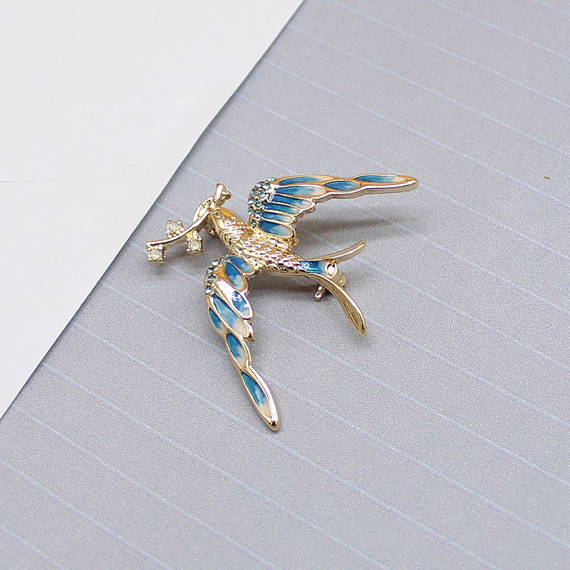 Japanese fashion exquisite gradient color build love nest Bird Brooch accessories female A156