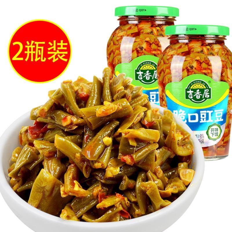 .吉香居脆口豇豆四川特产红油酸豆角配菜下饭菜即食品泡菜豇豆咸