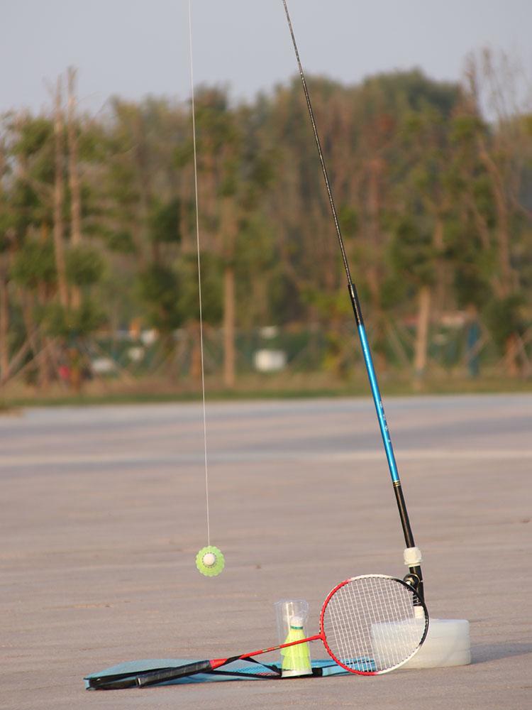 中國代購|中國批發-ibuy99|���������|一个人打羽毛球神器居家运动器材对抽板练习自己打训练器在家休闲