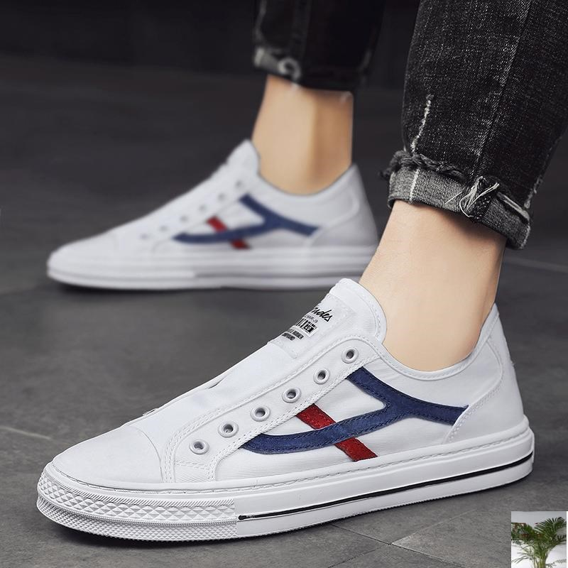 Yinyue lace up classic white shoes fashion trend canvas casual shoes low top casual shoes versatile board shoes flying all over the world