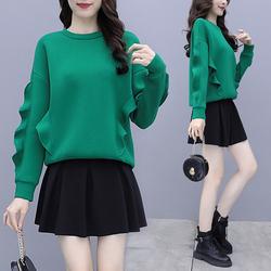 秋冬女装2020年新款加绒加厚韩系卫衣两件套装炸街小个子穿搭短裙
