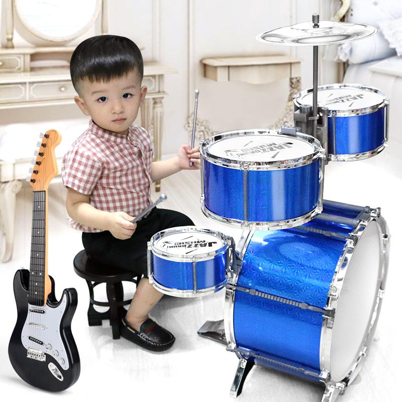 单鼓学生宝宝架子鼓1-3岁架子鼓5鼓便携式电子鼓儿童玩具架子鼓
