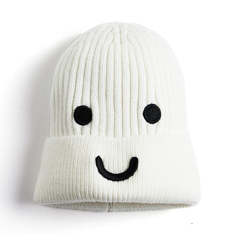 【好物韩版】可爱表情包保暖日系推荐编织针织帽ぃ2020年新款