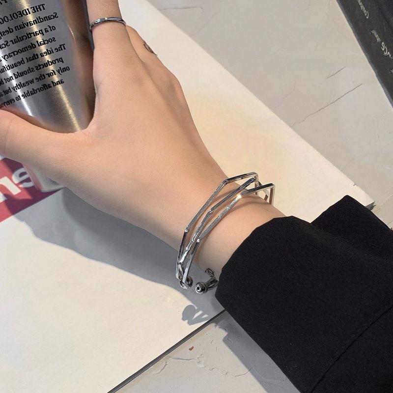 Hostess fashion design multi-layer Bracelet net s wind Hongyuan mens hand Cool jewelry bracelet cold opening geometry
