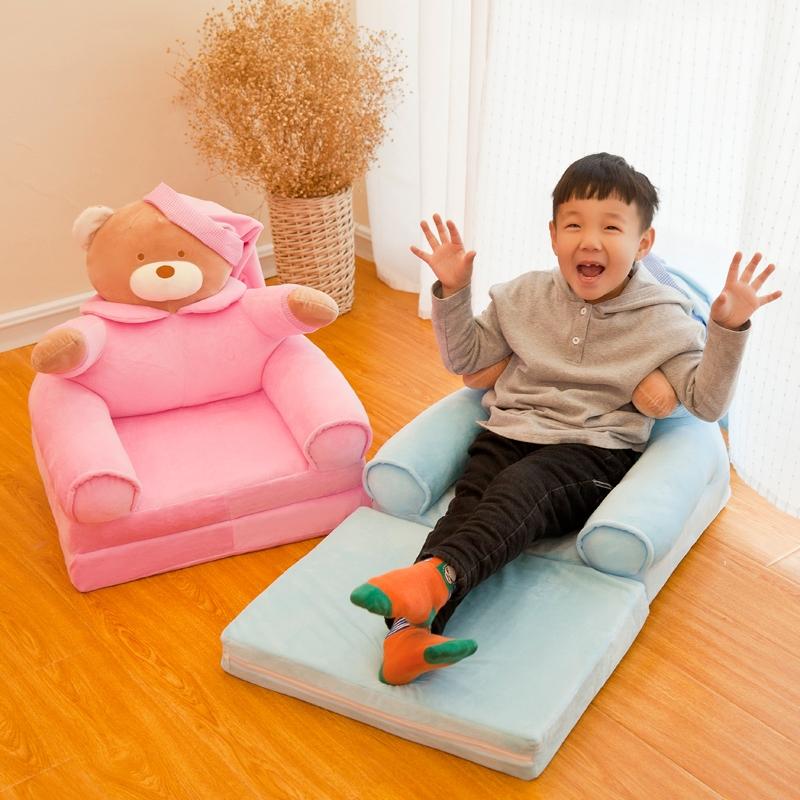 婴儿沙发 可睡两用懒人床椅折叠能躺着网红款单人卧室童房间布置