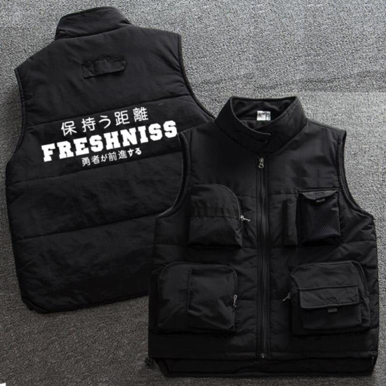 Gym guard wearing jacket embroidered photographer work clothes attendance printable cotton vest on duty Ma Jiasu