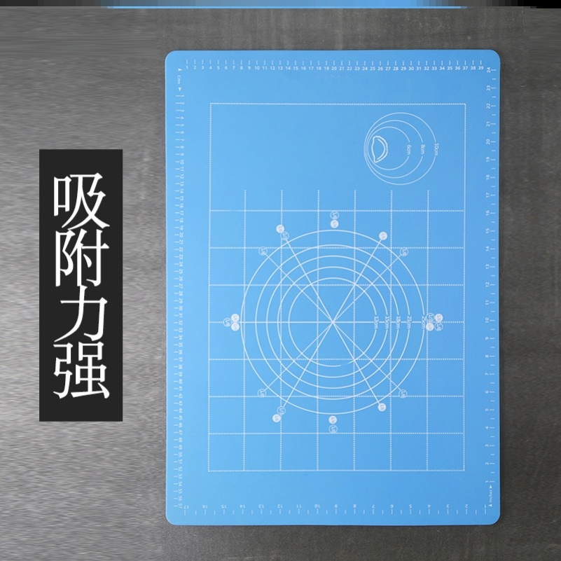 Housewife silicone pad rolling pad family bread dumpling chopping board Japan and South Korea eat latex free white kitchen.