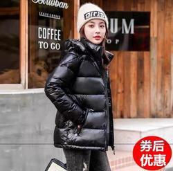 短款羽绒服女加厚亮面时尚女装2020新款爆款韩版超厚女冬季外套潮