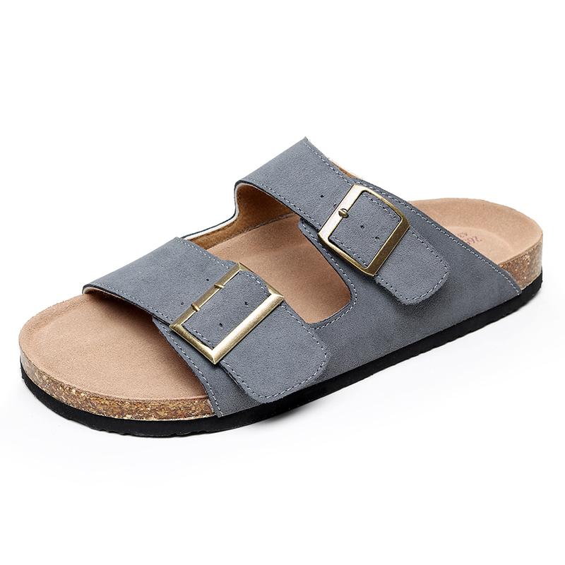 Anti skid slippers on soft beach in 2021 summer