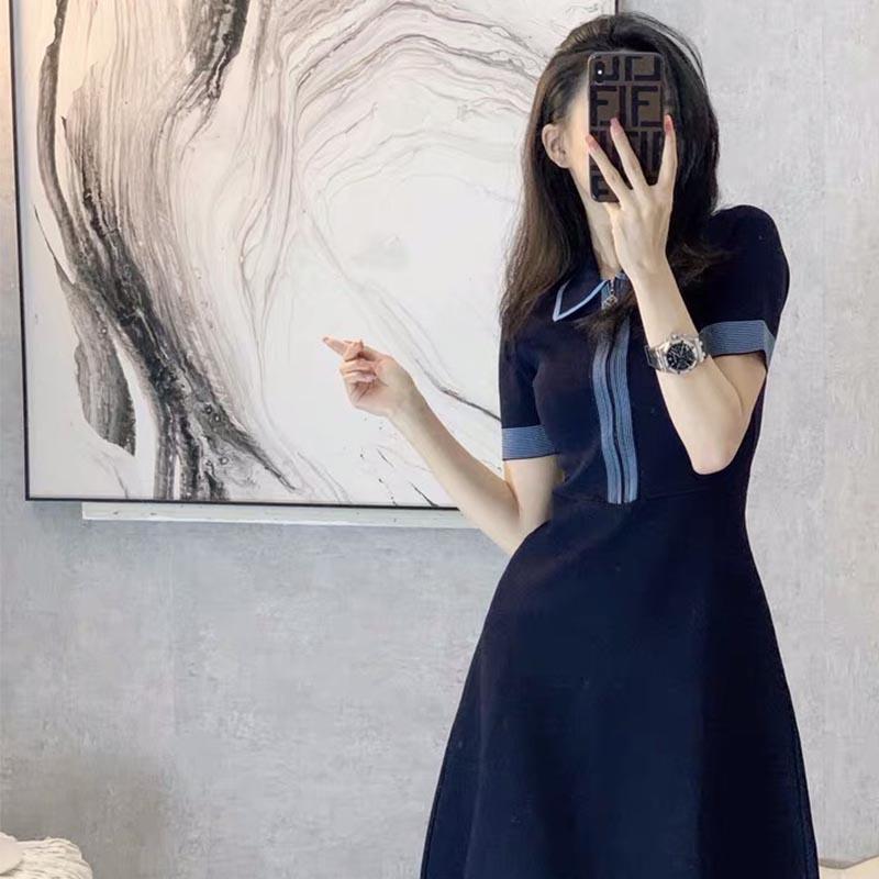 裙子2021年新款夏天法式茶歇初恋娃娃领夏季连衣裙子显瘦气质女装
