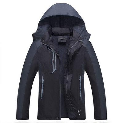 Autumn and winter Plush jacket for young people warm outdoor sports jacket windproof thickening mens mountaineering jacket.